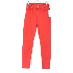 7 For All Mankind Sz 26 Slim Illusion Jeans Coral
